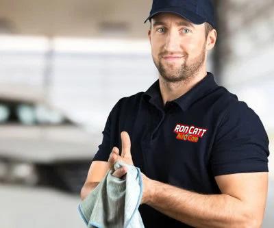 huntington beach auto repair - man working on car